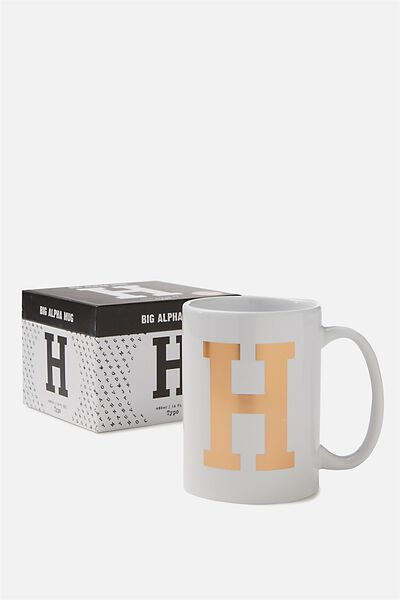 Big Alphabet Mug, ROSE GOLD H