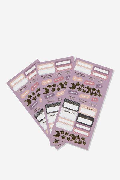 Sticker Pack, PURPLE PLANNER STICKER