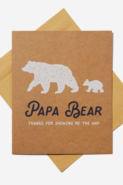 Fathers Day Card 2019, PAPA BEAR