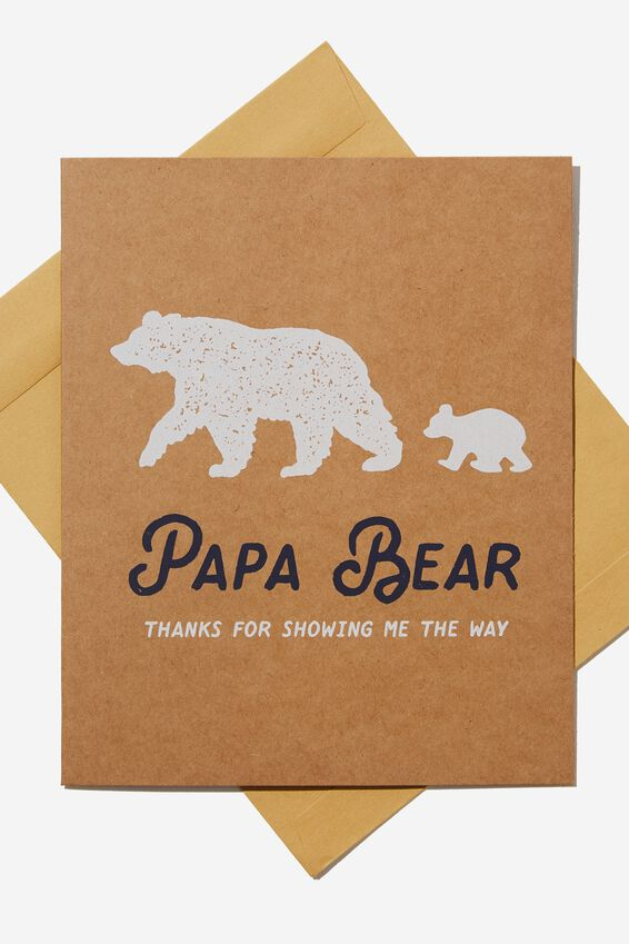 Fathers Day Card 2019, PAPA BEAR