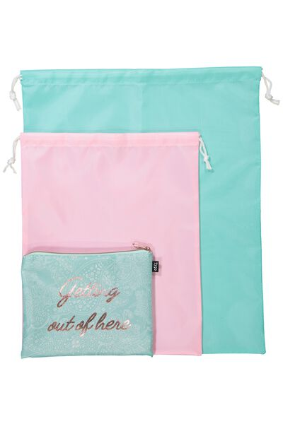 Get Organised Travel Bag, BLUE LACE