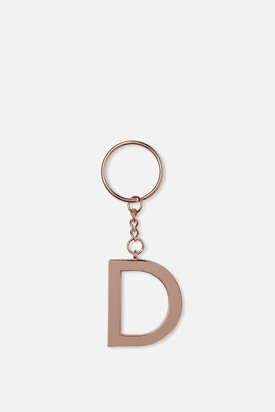 Alphabet Keyring, ROSE GOLD D