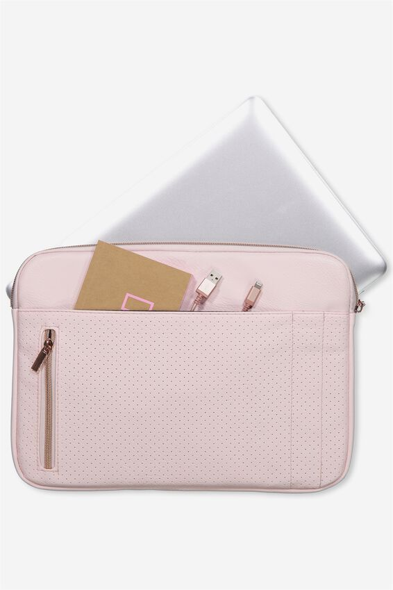 Take Charge Laptop Cover 13 inch, BLUSH PERFORATED