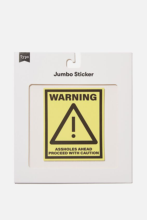 Jumbo Sticker, WARNING!