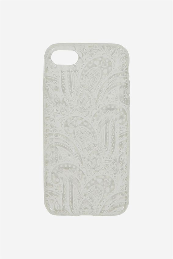 Transparent Phone Cover 7, 8, WHITE LACE
