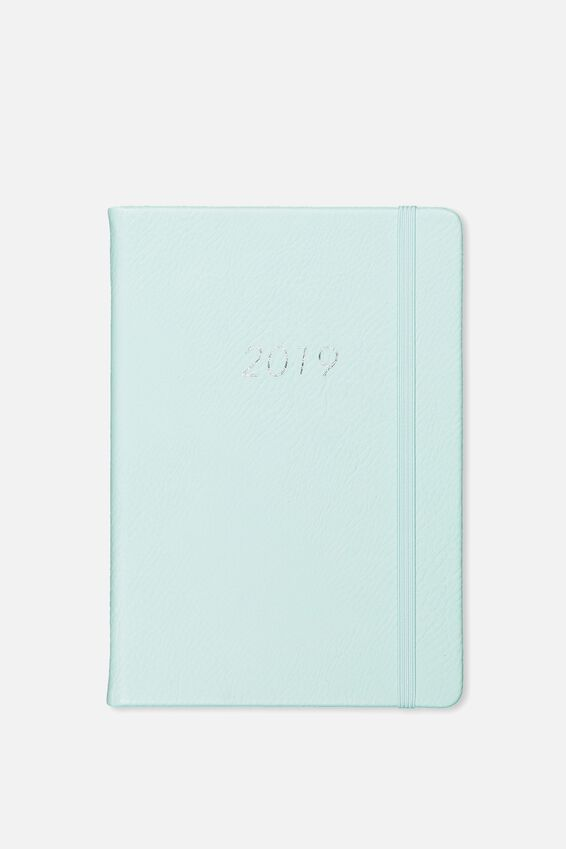 2019 A5 Medium Weekly Buffalo Planner, LIGHT BLUE