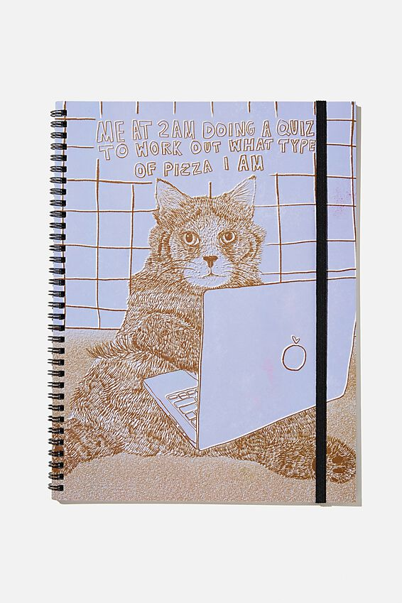 A4 Spinout Notebook Recycled, CAT QUIZ