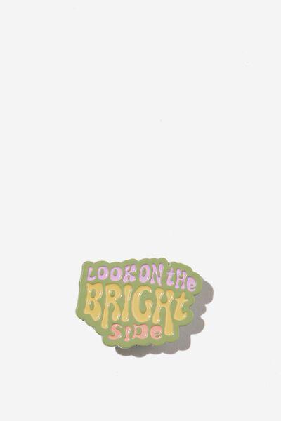 Enamel Badges, BRIGHT SIDE ALLY GREEN