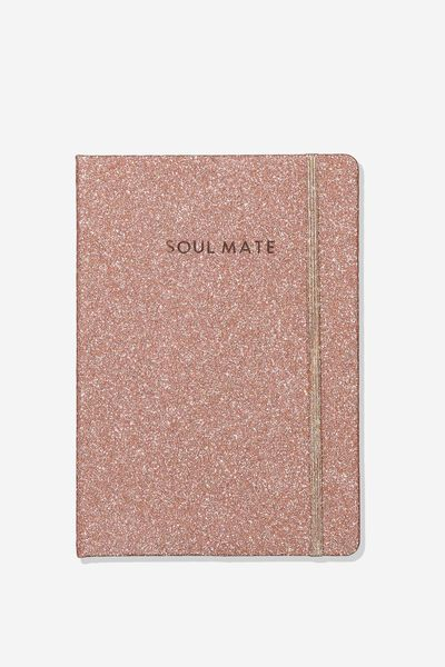 Personalized Medium A5 Buffalo Journal, ROSE GOLD