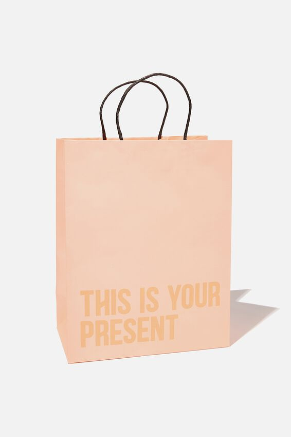 Get Stuffed Gift Bag - Medium, PEACH CANDY THIS IS YOUR PRESENT