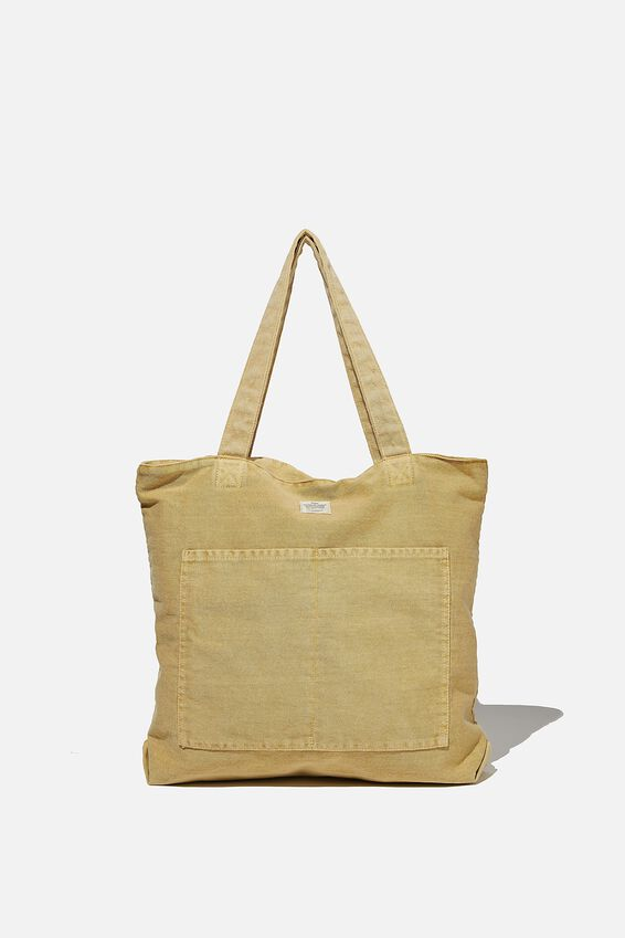 The Daily Tote Bag, WASHED MUSTARD