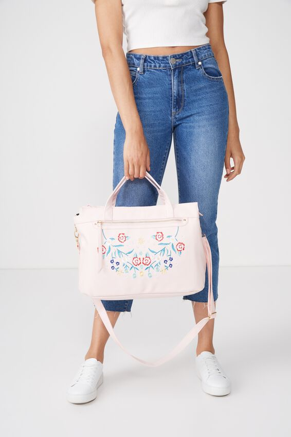 Laptop Tote Bag, BLUSH FLORAL