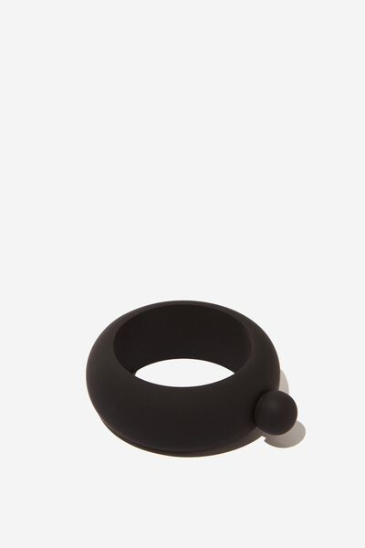 Flask Bangle, BLACK RUBBER COAT!