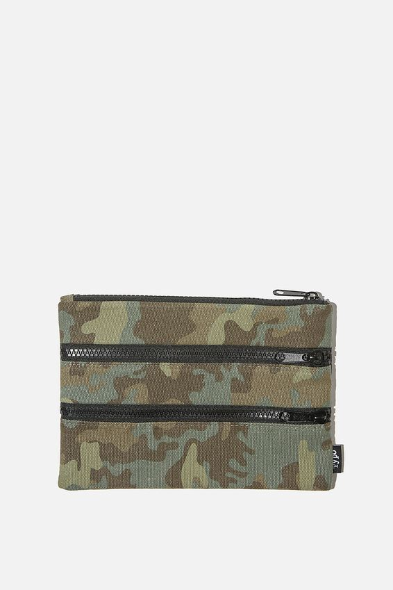 Double Archer Pencil Case, CAMO