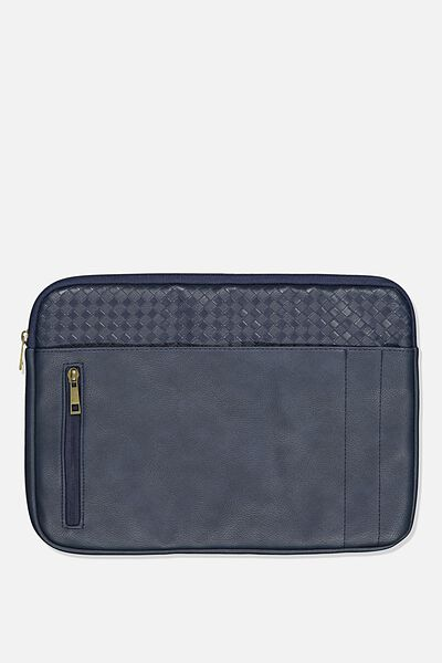 Take Charge Laptop Cover 13 inch, NAVY WEAVE