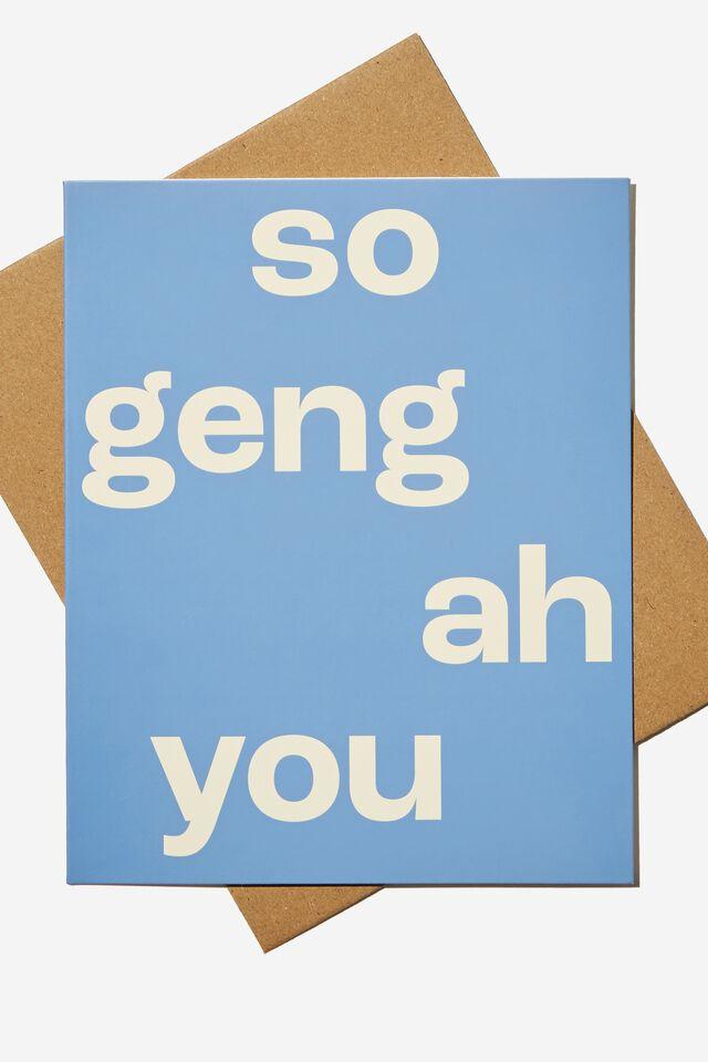 Nice Birthday Card, RG ASIA SO GENG AH YOU