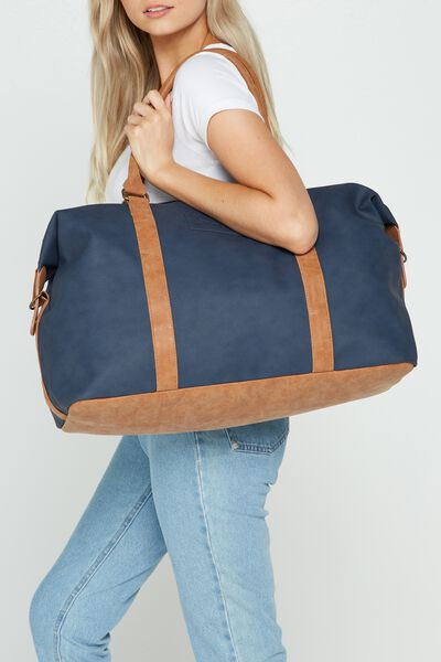 Neo Weekender Duffel Bag, RICH TAN & NAVY