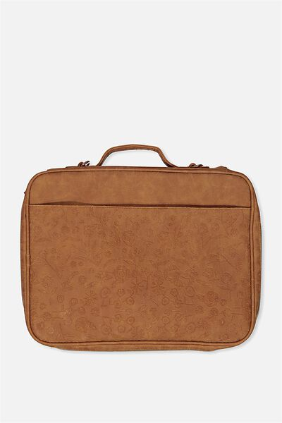 Mobile Laptop Folio, MID TAN FLORAL