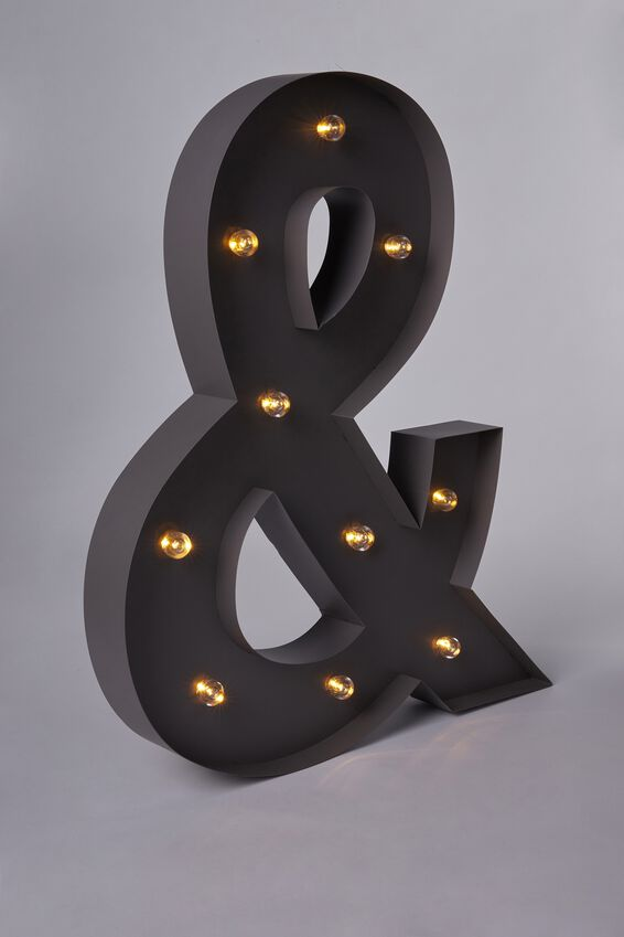 Marquee Letter Lights 70cm, SILVER &