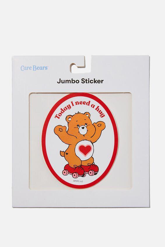 Care Bears Jumbo Sticker, LCN CLC NEED A HUG