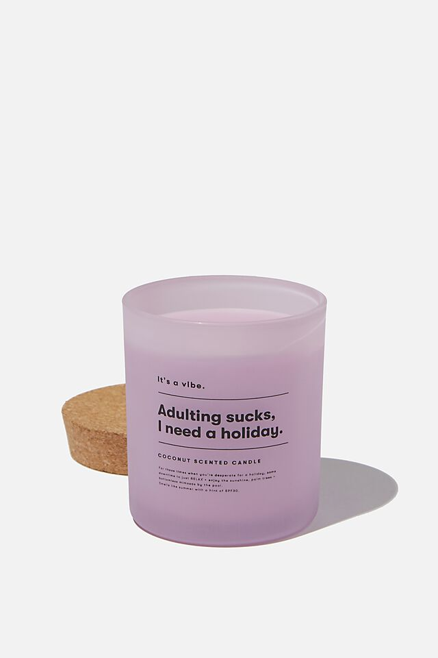 Its A Vibe Candle, WASHED LILAC ADULTING SUCKS