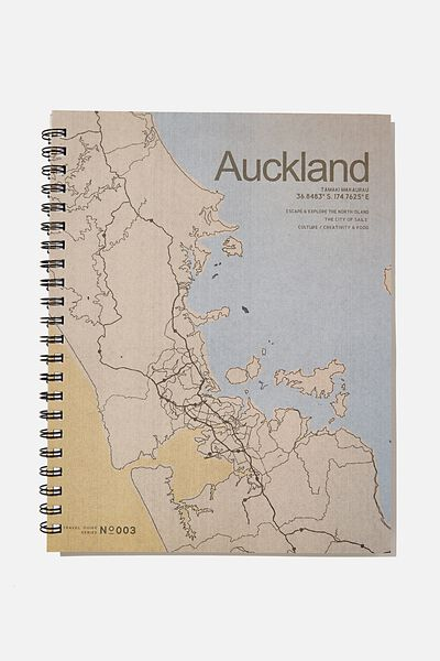 A4 Campus Notebook Recycled, RG NZ MAP ILLUSTRATION