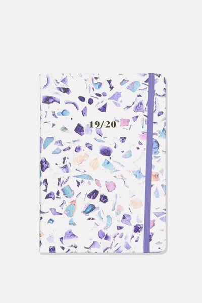 2019 20 Medium A5 Weekly Buffalo Diary, TERRAZZO