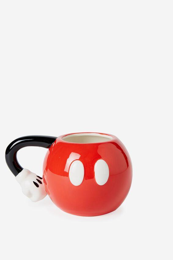 Mickey Novelty Mug, LCN MICKEY PANTS RED