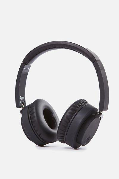 Wireless Signal Headphone, BLACK RUBBER