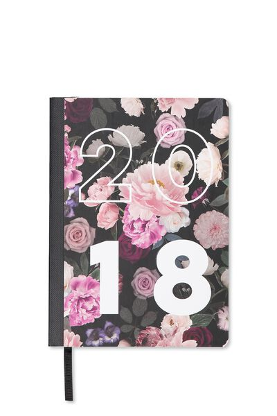 2018 Everyday Planner, DARK FLORAL