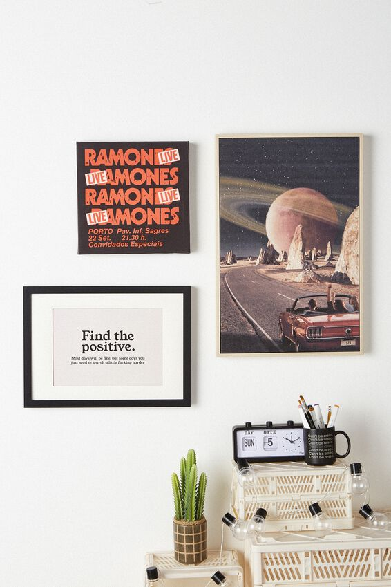 A4 Framed Print, FIND THE POSITIVE!!