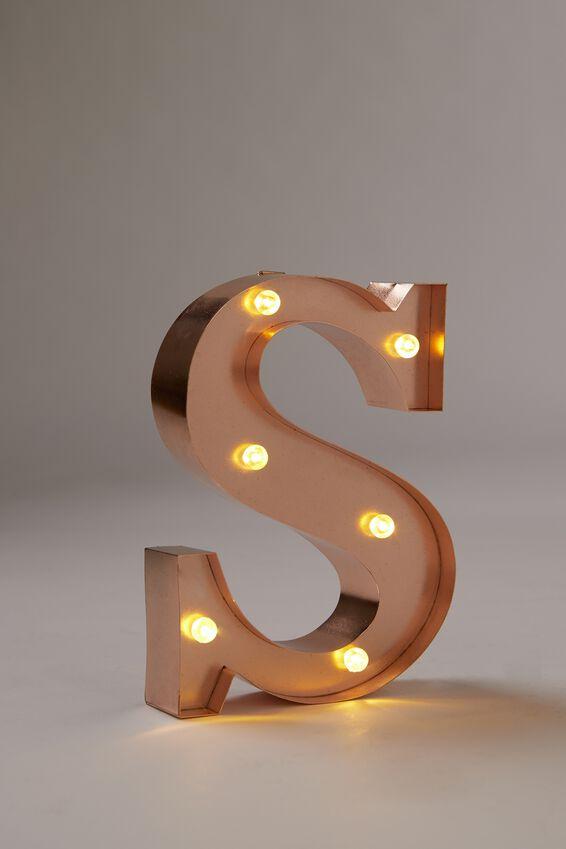 Marquee Letter Lights Premium 6.3inch Midi, ROSE GOLD S