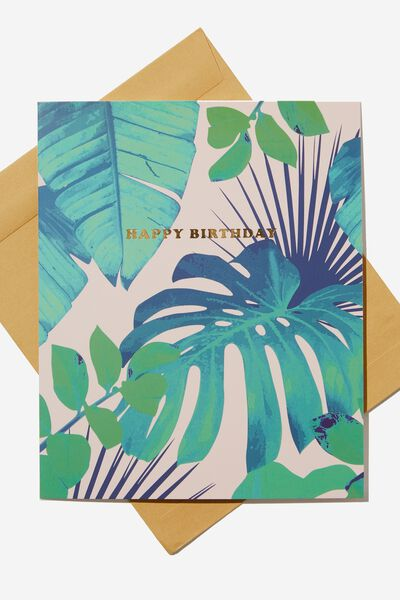 Nice Birthday Card, MONSTERA LEAF