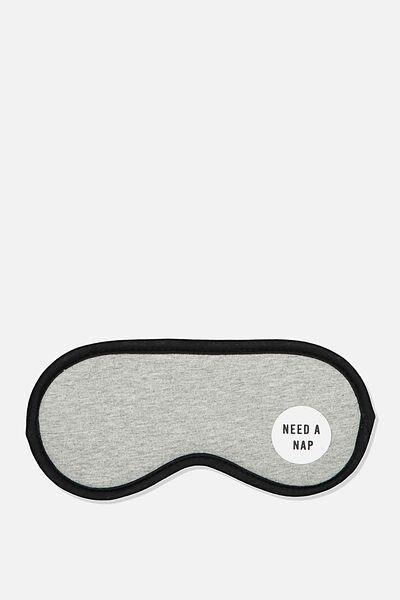 Premium Sleep Eye Mask, GREY MARLE QUOTE