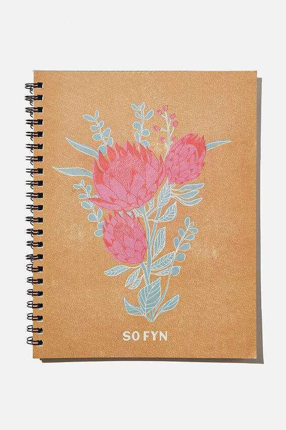 A4 Campus Notebook Recycled, RG SA PROTEA FLOWER