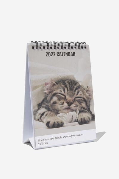 2022 Get A Date Desk Calendar, CAT MEMES