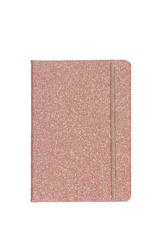 A5 Buffalo Journal, ROSE GOLD GLITTER