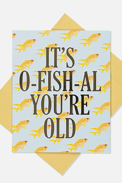 Funny Birthday Card, O-FISH-IAL