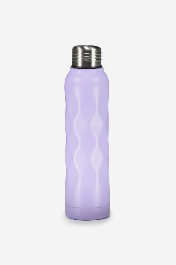Small Metal Drink Bottle, LILAC FACETED