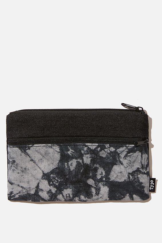 Archer Pencil Case, BLACK TYE DYE