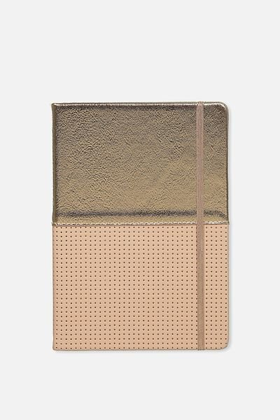 Premium A5 Buffalo Journal, BLUSH ROSE GOLD PERFORATED