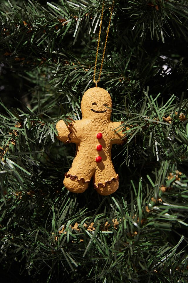 Resin Christmas Ornament, BAKED GINGY