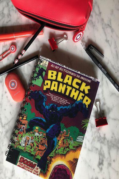 A5 Lenticular Notebook, LCN MAR BLACK PANTHER