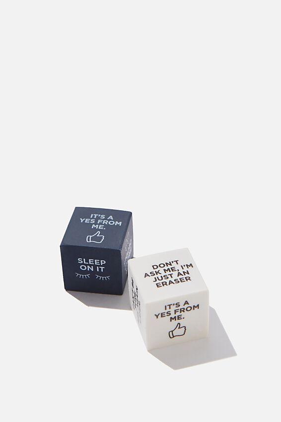 Novelty Eraser Pack, DECISION DICE