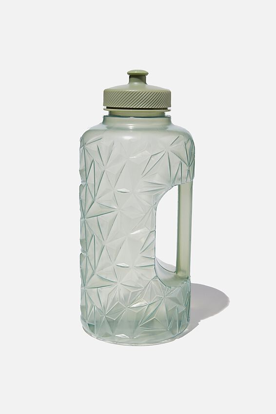 Faceted Drink Bottle, GUM LEAF