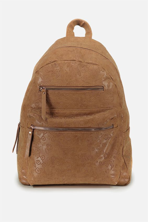Campus Backpack, MID TAN FLORAL