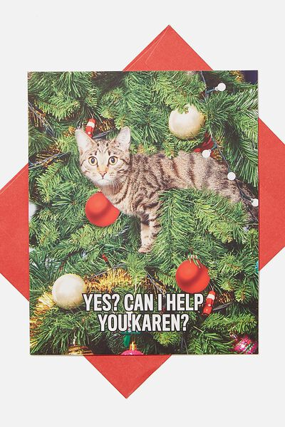 Christmas Card 2020, SCENTED CAN I HELP YOU KAREN CAT MEME