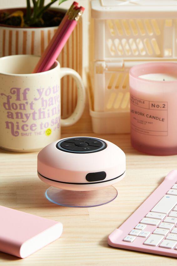 Wireless Led Shower Speaker, PALE PINK 2.0