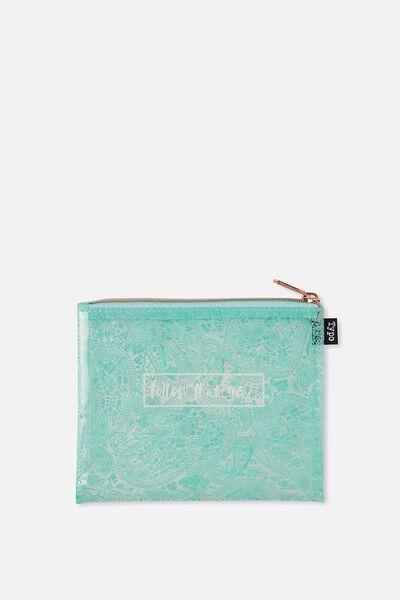 Spinout Pencil Case, BLUE LACE DREAM
