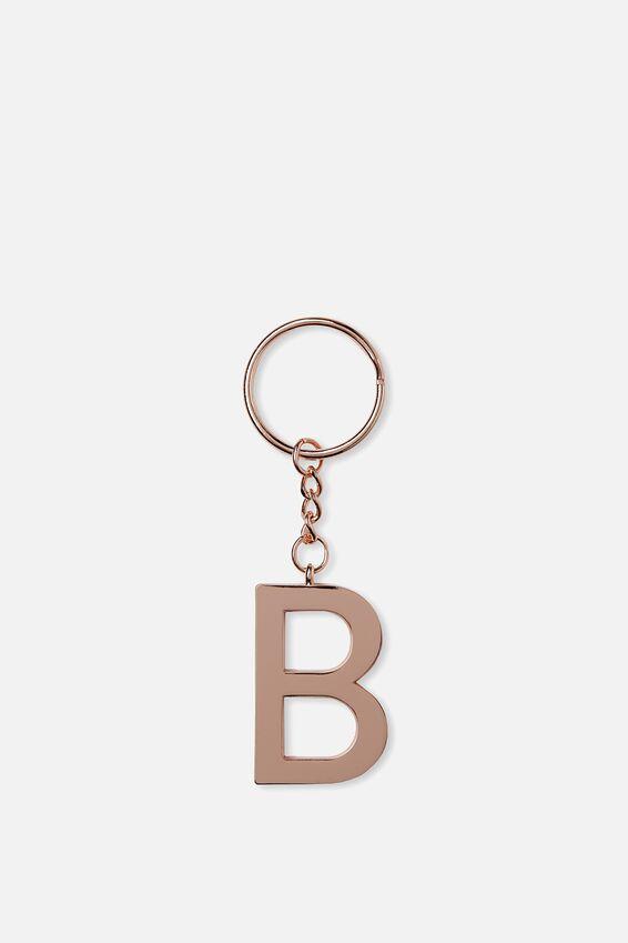 Alphabet Keyring, ROSE GOLD B